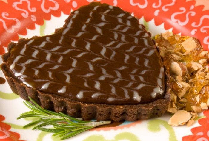 Burnt Sugar and Rosemary Chocolate Tart