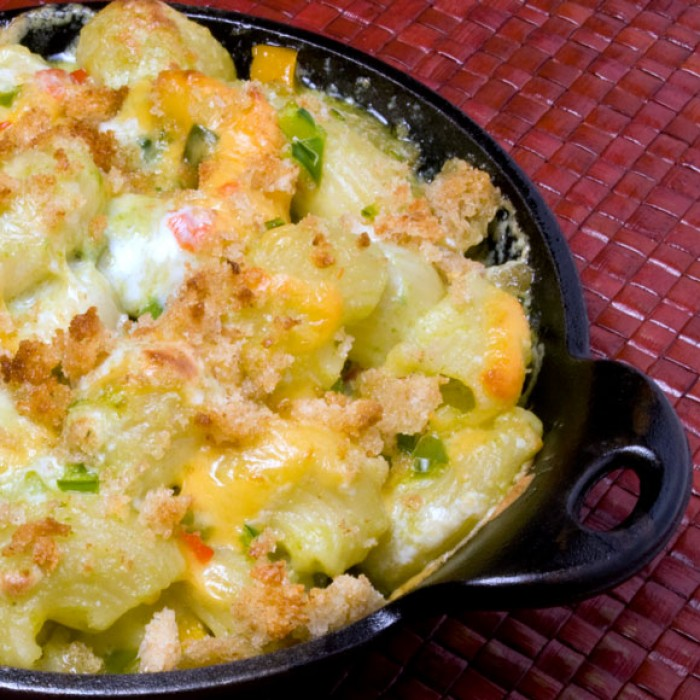 LunaCafe Green Chile Mac & Cheese