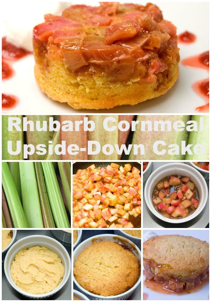 Rhubarb Cornmeal Upside-Down Cake | LunaCafe