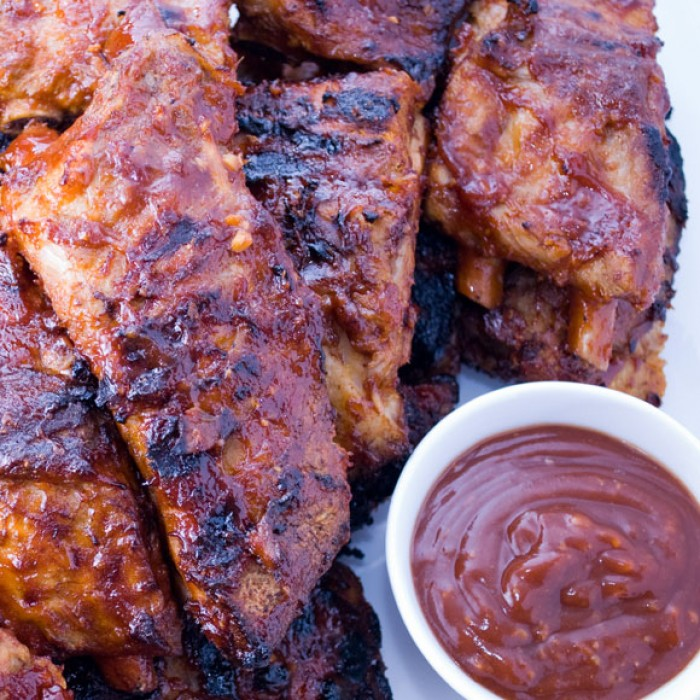 Grilled Baby Back Ribs with Garlic Ginger Glze