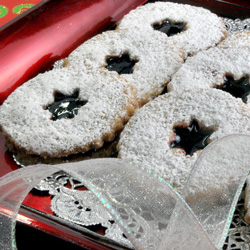 Toasted Almond Black Cherry Shortbread
