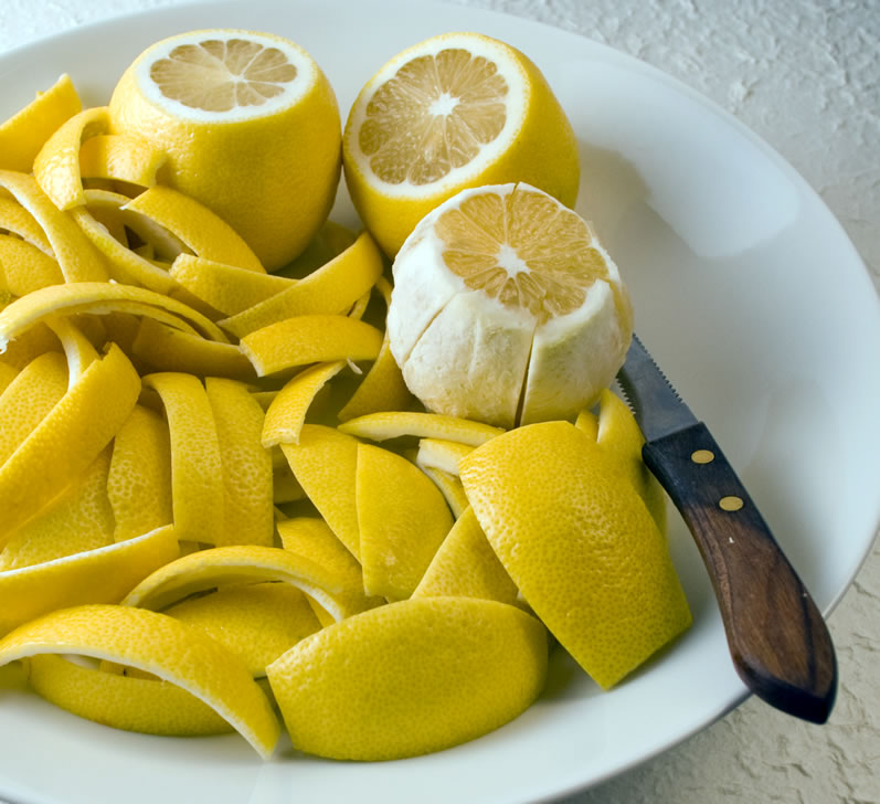 Fresh Lemon Peels