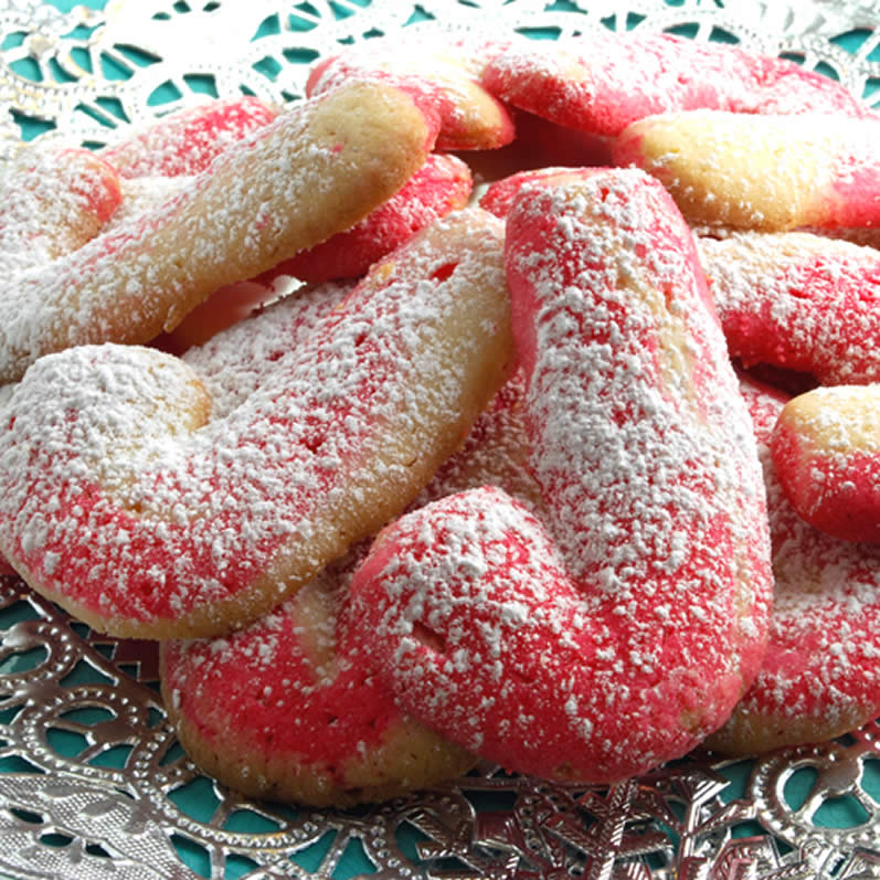 Candy Cane Butter Cookies