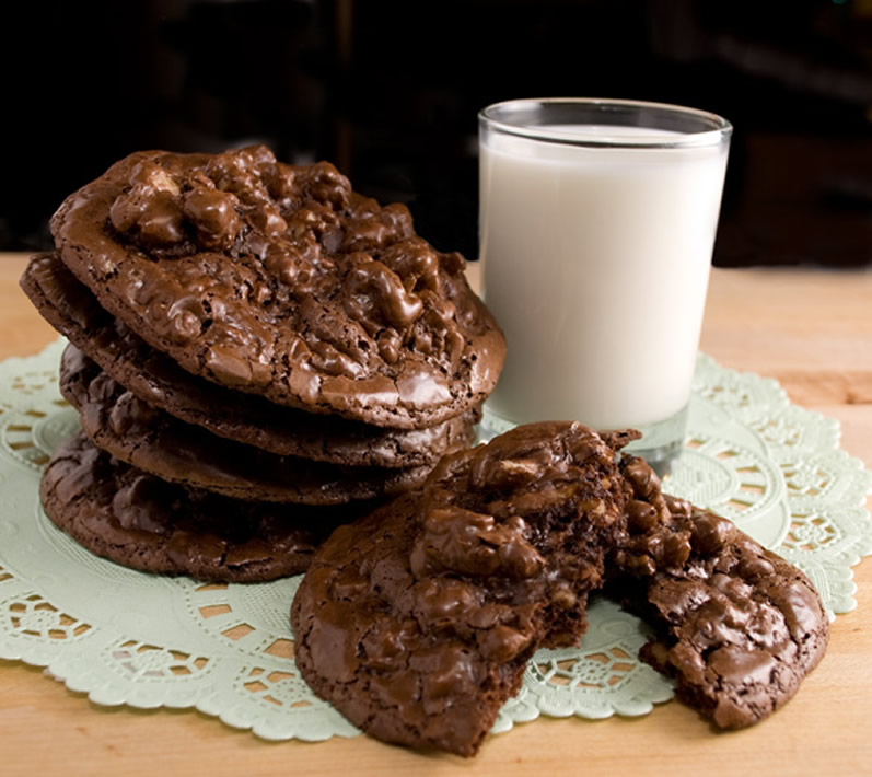 Flourless Chocolate Cookie Recipe with Toasted Walnuts