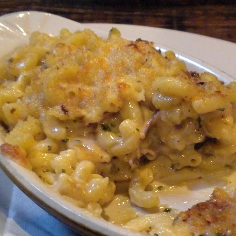 Smith Gastro Pub: Macaroni with Gouda and Ham Half Eaten Seattle WA