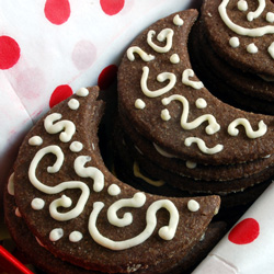 Once in a Chocolate-Spice Moon Cookies