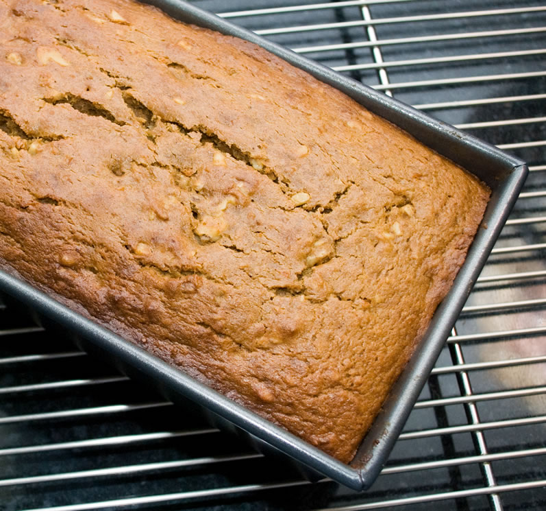 Pumpkin, Spice & Everything Nice Tea Bread Hot From Oven