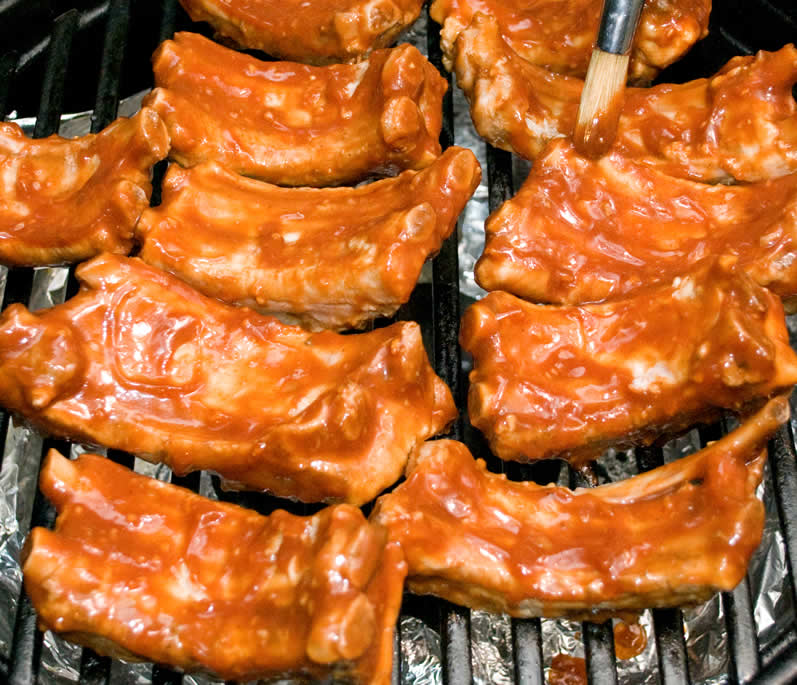 Grilled Baby Back Ribs With Garlic-Ginger BBQ Glaze  LunaCafe