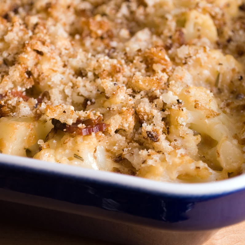 Cauliflower Gratin Hot from the Oven