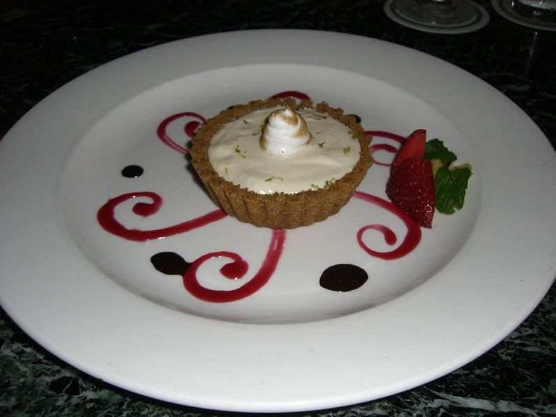 Lahaina Grill's Iao Valley Lime Tart in a Macadamia Nut Graham Cracker Crust