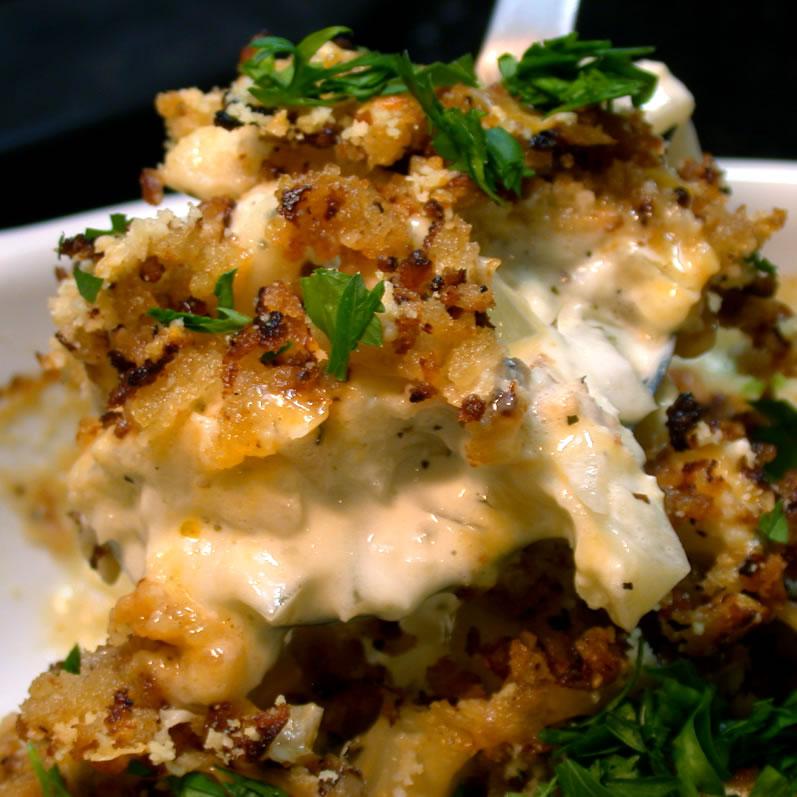 Cauliflower Gratin with Tillamook Aged Cheddar, Caramelized Onions, & Applewood-Smoked Bacon