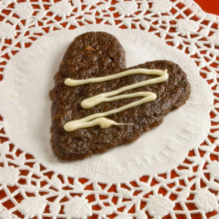LunaCafe Mexican Hearts of Fire Cookies on a White Doily