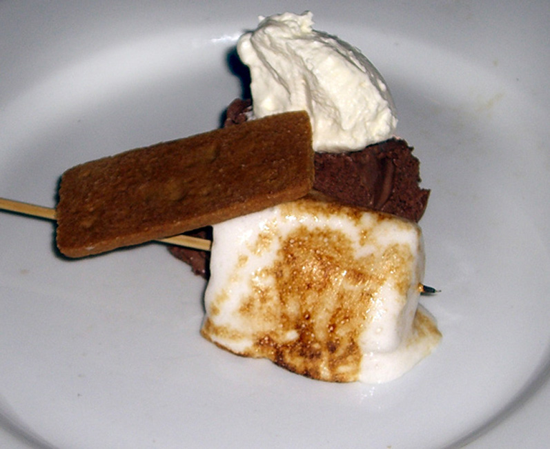 Chocolate Mousse, Cream, Toasted Marshmallow & Graham Cracker