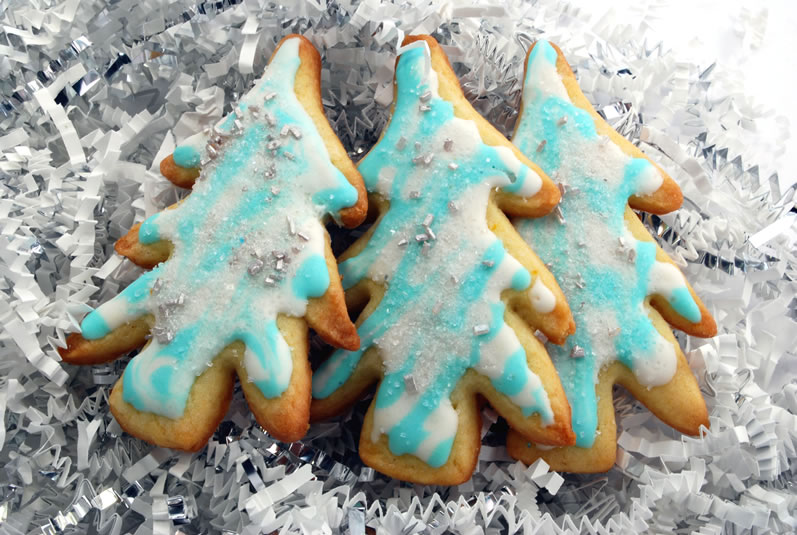 Orange Vanilla Sugar Cookies Christmas Trees