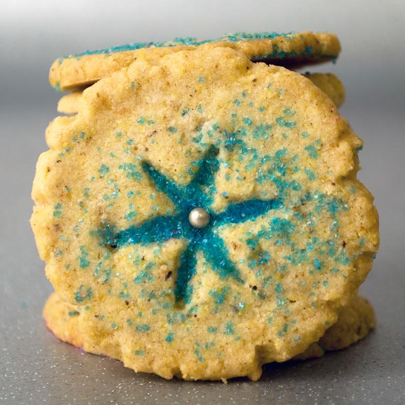 Garam Malsala & Candied Ginger Cookie Closeup