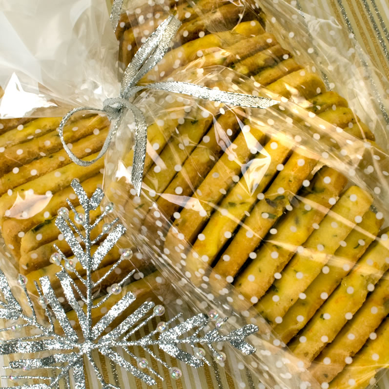 Herb de Provence Orange Butter Cookies in Bags