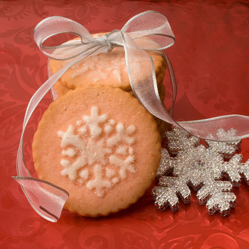 Maraschino Cherry Butter Cookies with Ribbon