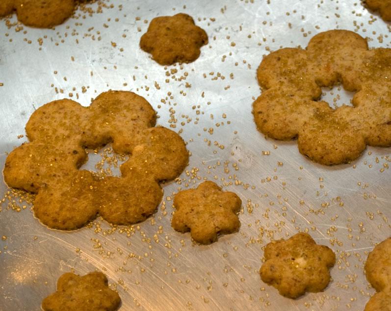 Sweet Parmesan Almond Cookies Freshly Baked