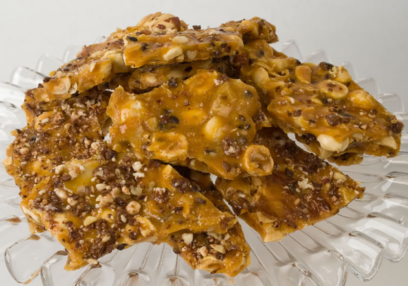 Platter of Toasted Hazelnut, Honey & Garam Masala Brittle