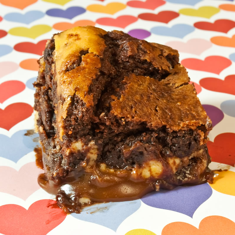LunaCafe's Caramel  & Lemon Chevre Brownies