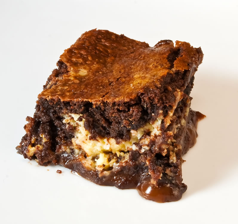 LunaCafe's Caramel & Lemon Chevre Brownies | LunaCafe