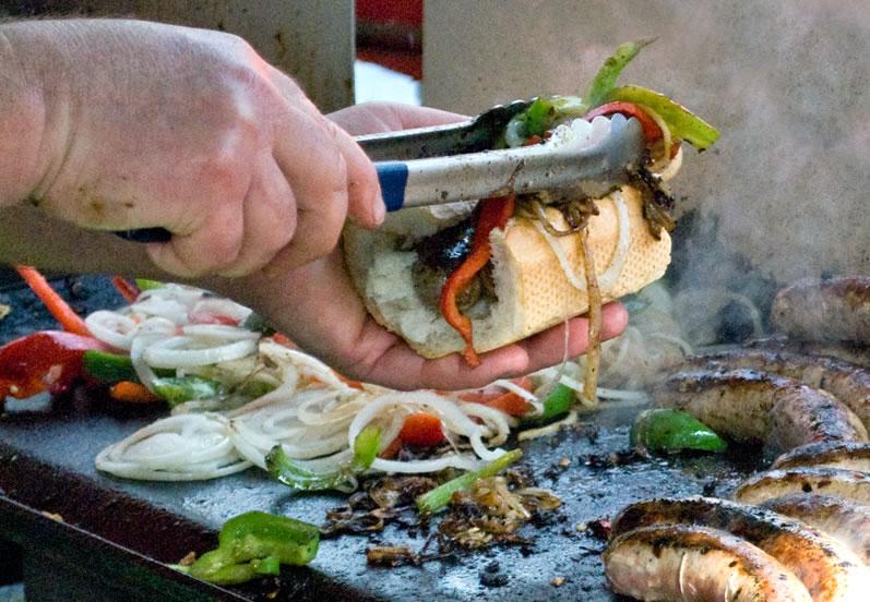 Northern Italian Sausage Sandwich