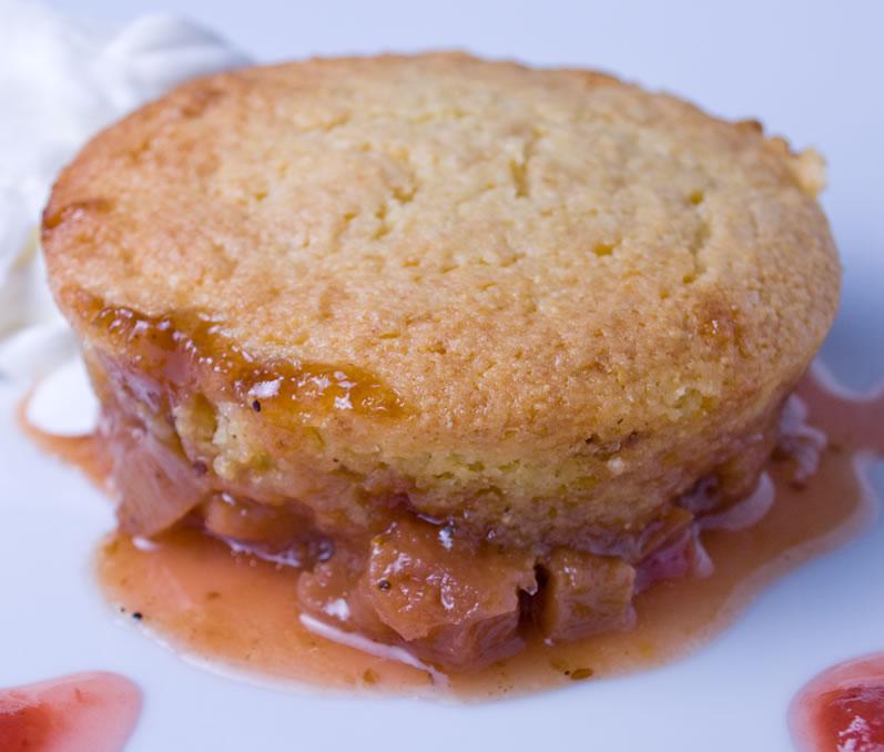 Rhubarb Cornmeal Upside-Down Cake