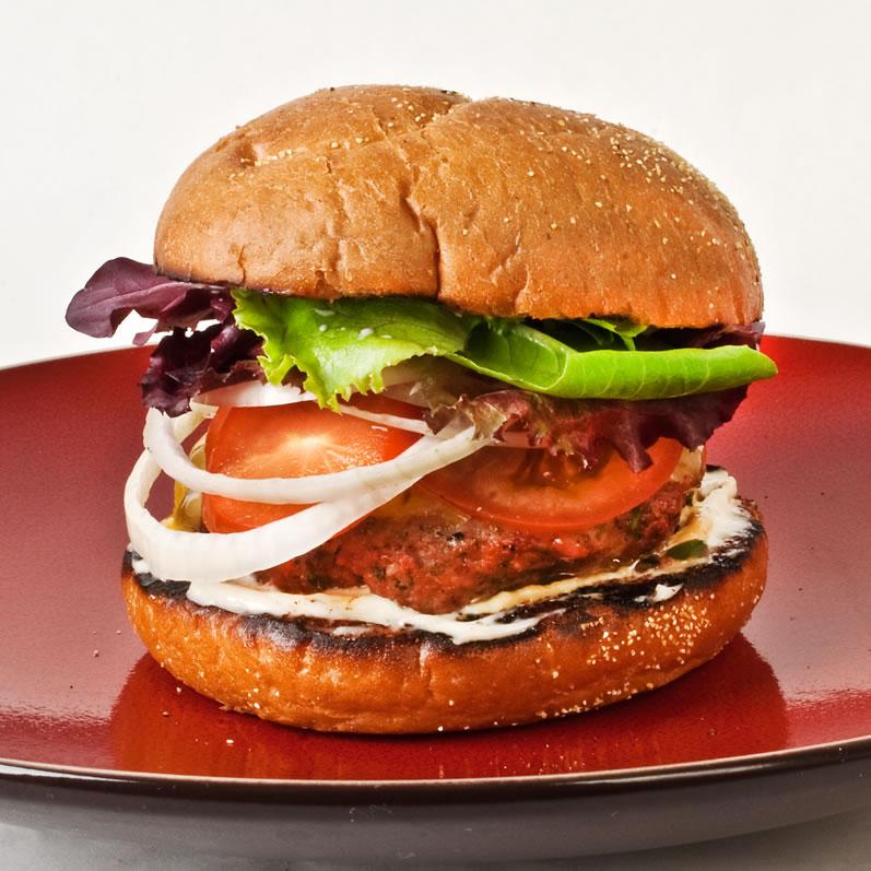 Beef Chuck, Beer & Fresh Rosemary Burgers