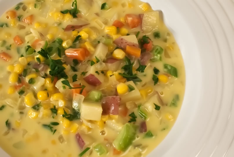 corn soup that uses this method fresh corn chipotle soup with prawn ...
