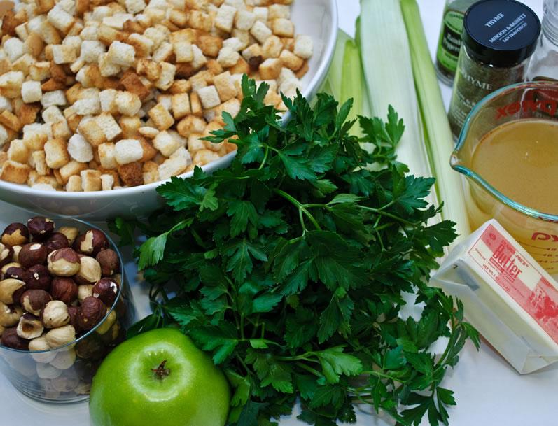 Green Apple Dressing with Melted Leeks & Toasted Hazelnuts   LunaCafe