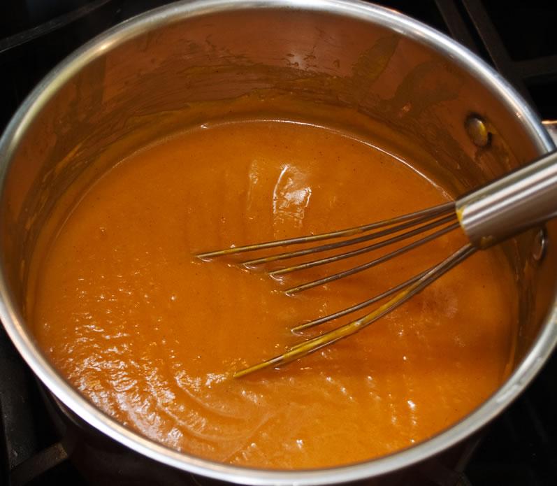 Red Kuri Squash & Orange Soup with Cinnamon Harissa