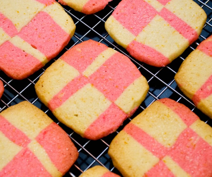 Mary's Christmas Quilt Cookies (Cinnamon Hot & Orange Shortbread)