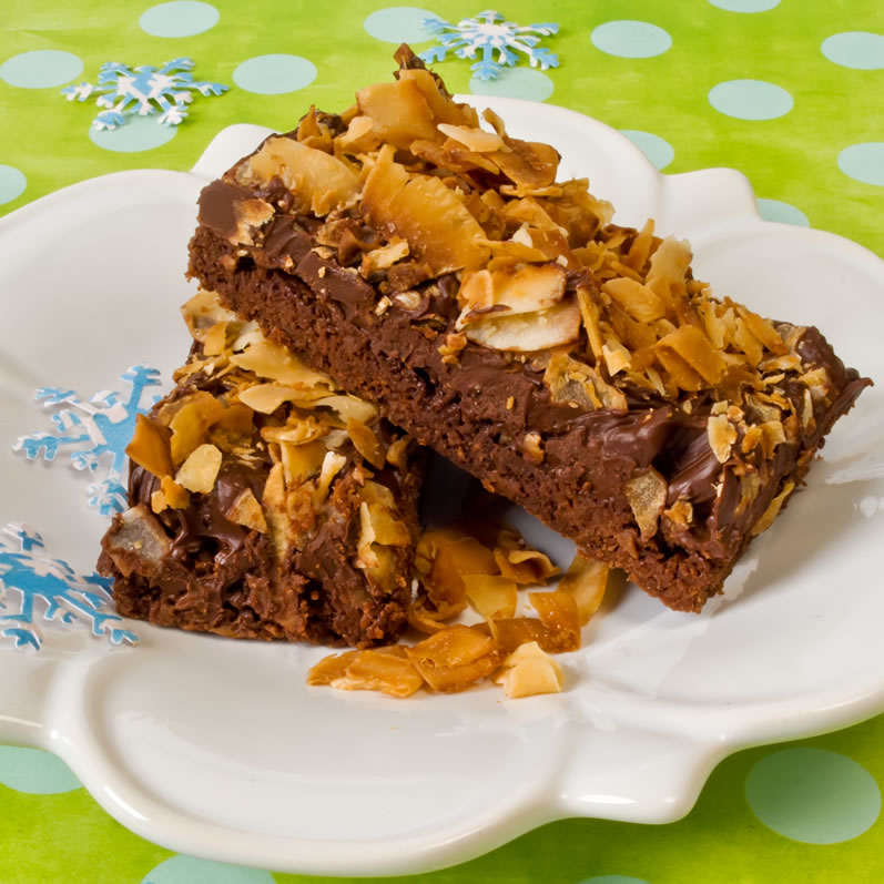 Naughty & Nice: Chocolate Toasted Coconut Bars