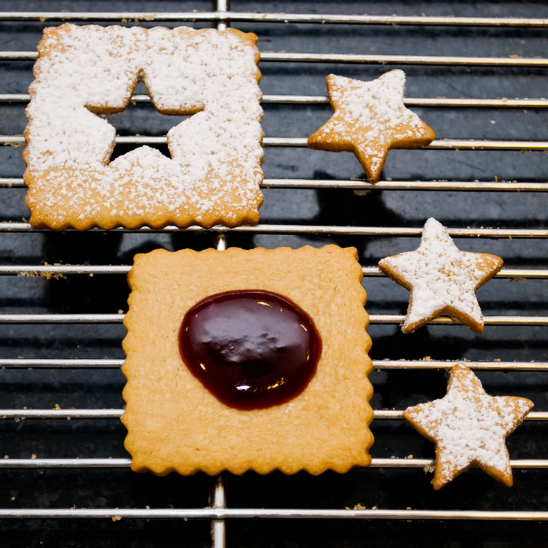 Peanut Butter Ginger Shortbread