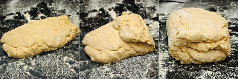 Layering scone dough