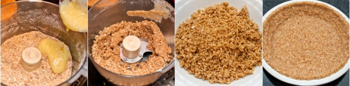 Preparing the Crunchy Toasted Coconut Crust