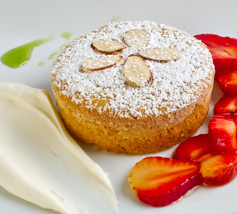 Heavenly Almond Yogurt Cake | LunaCafe