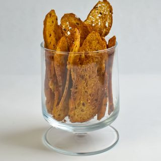 Seeded Bread Crisps | LunaCafe