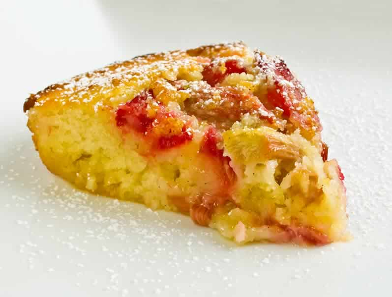 Lime & Vanilla Scented Rhubarb Clafouti