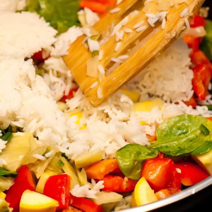 Fennel, Bell Pepper, & Summer Squash Creamy Rice Tian | LunaCafe
