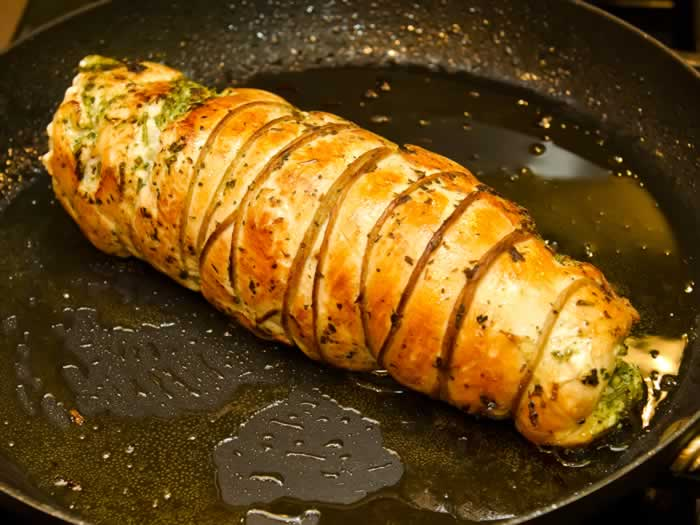 Dry-Cured Breast of Turkey Roulade with Autumn Herbs | LunaCafe
