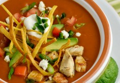 Mexican Tortilla Soup with Frizzled Tortillas