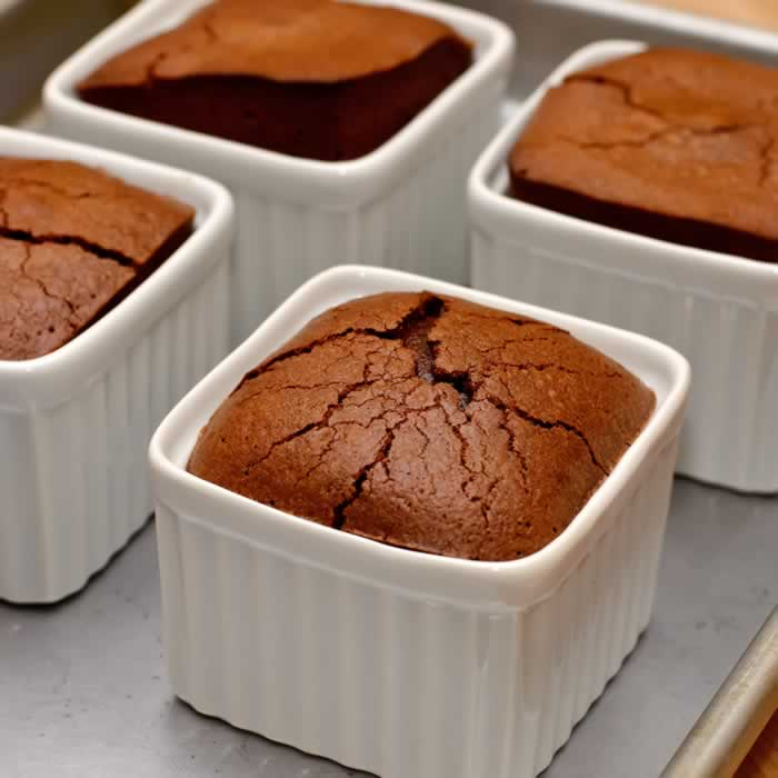 Warm Spiced Molten Chocolate Cake