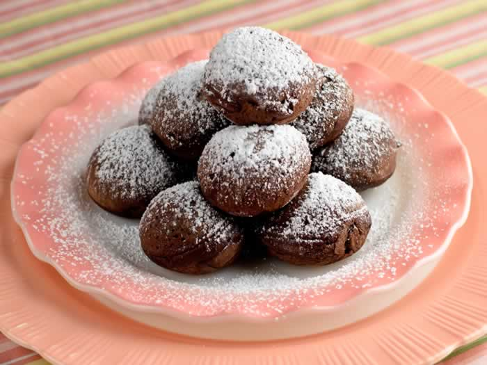 Mexicano Chocolate Ebelskivers (Aebleskivers)