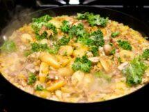 Adding Kale to Farrotto