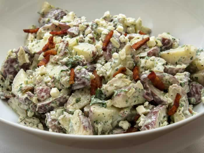 Baby Red Potato Salad with Applewood Smoked Bacon & Oregon Blue