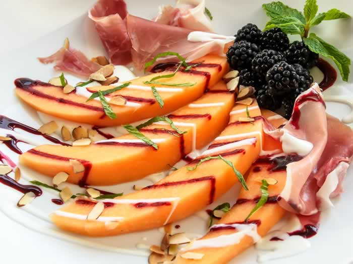 Tuscan Melon Amp Blackberry Salad With Prosciutto Amp Yogurt