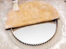 Lining Tart Pan with Spiced Walnut Short-Crust Pastry