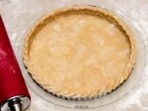 Spiced Walnut Short-Crust Pastry with Crimped Edge in Tart Pan