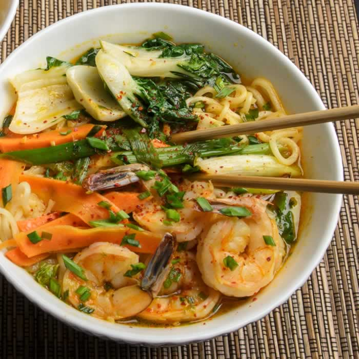 Korean Noodle Soup- Jjambbong